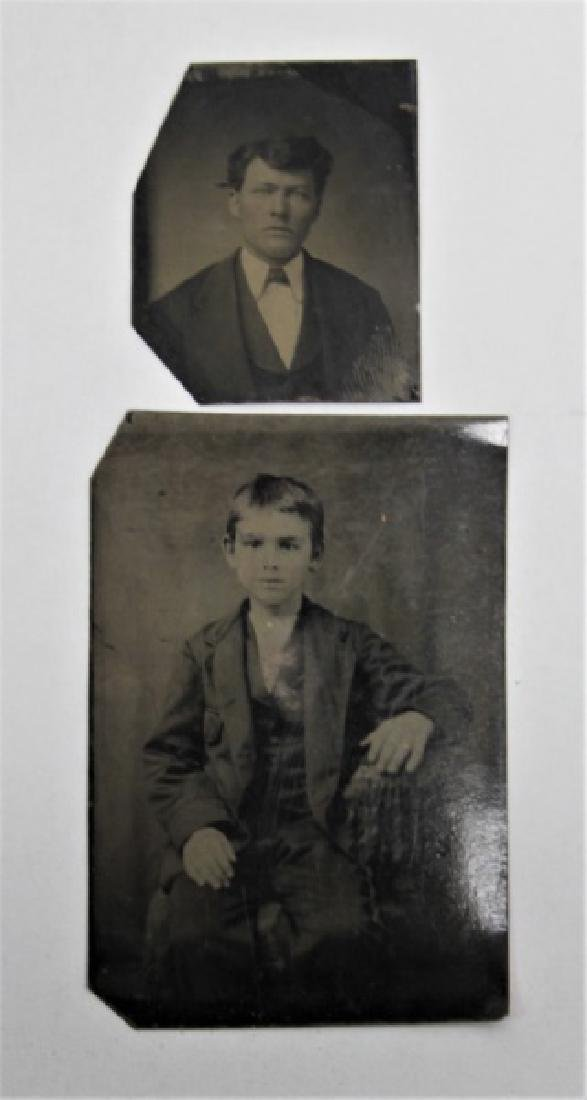 (10) Pcs 19th C Tintypes & Daguerreotype Photos - 3