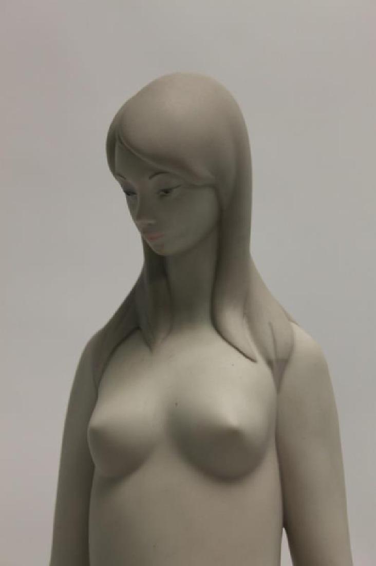 "(2) Lladro Figurines: ""Nude"", Woman Holding Lamb - 4"