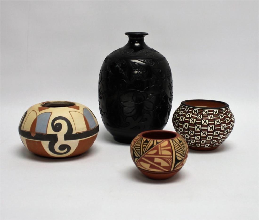 (4)Pcs Acoma, Pueblo, Jemez & Santa Clara Pottery