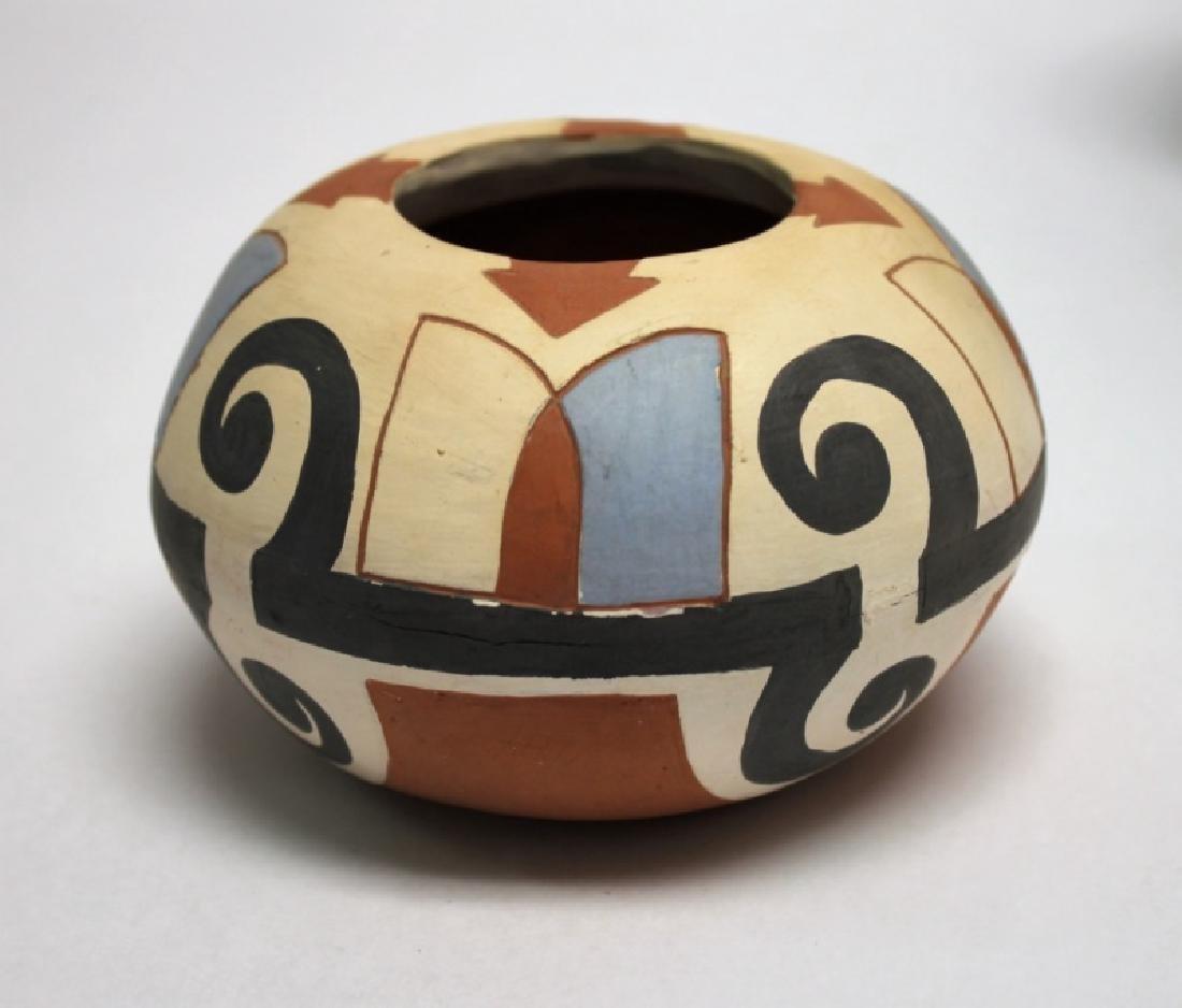 (4)Pcs Acoma, Pueblo, Jemez & Santa Clara Pottery - 8