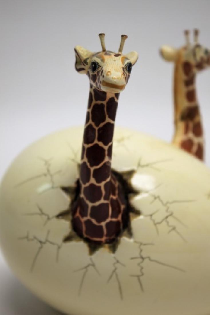 Bustamante Ceramic Giraffes Hatching From Egg - 5