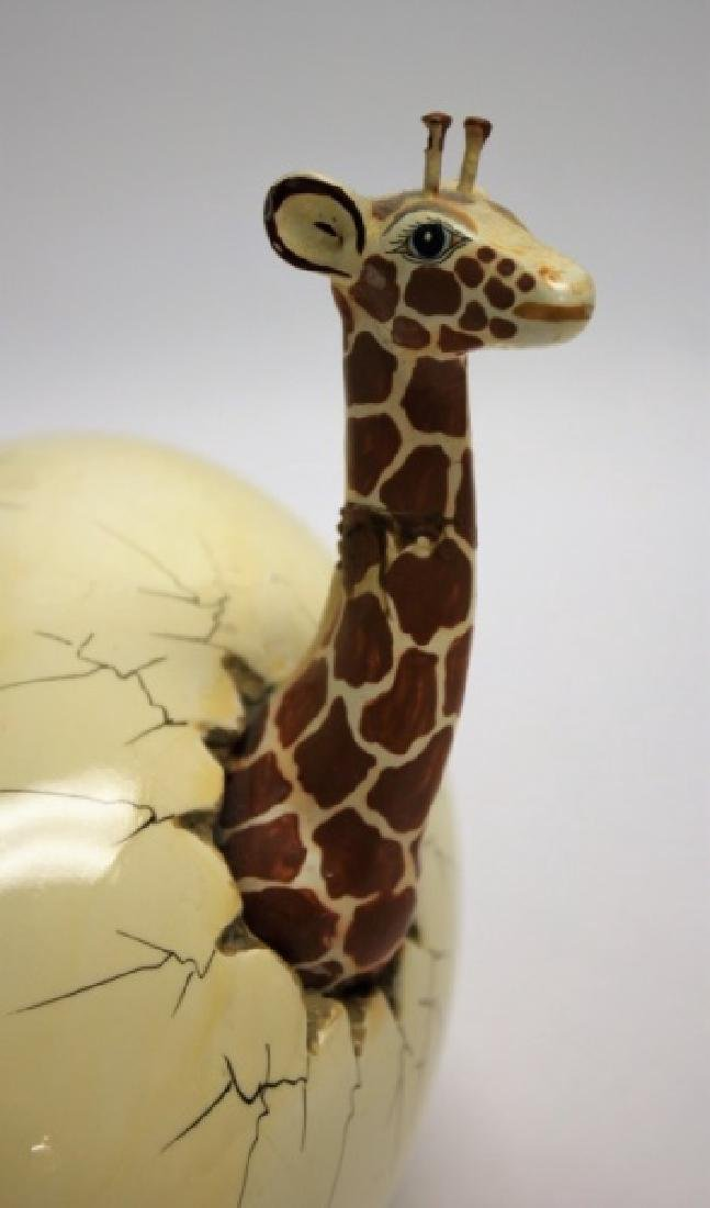 Bustamante Ceramic Giraffes Hatching From Egg - 6