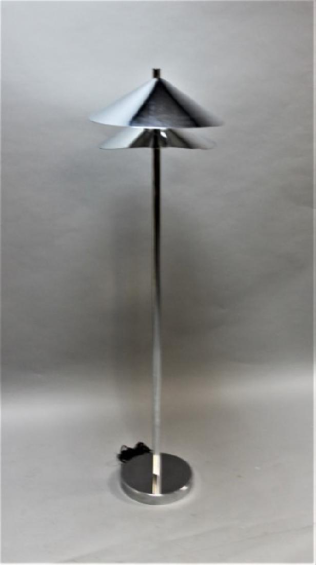 Curtis Jere Chrome Floor Lamp w 2 Hooded Lites - 3