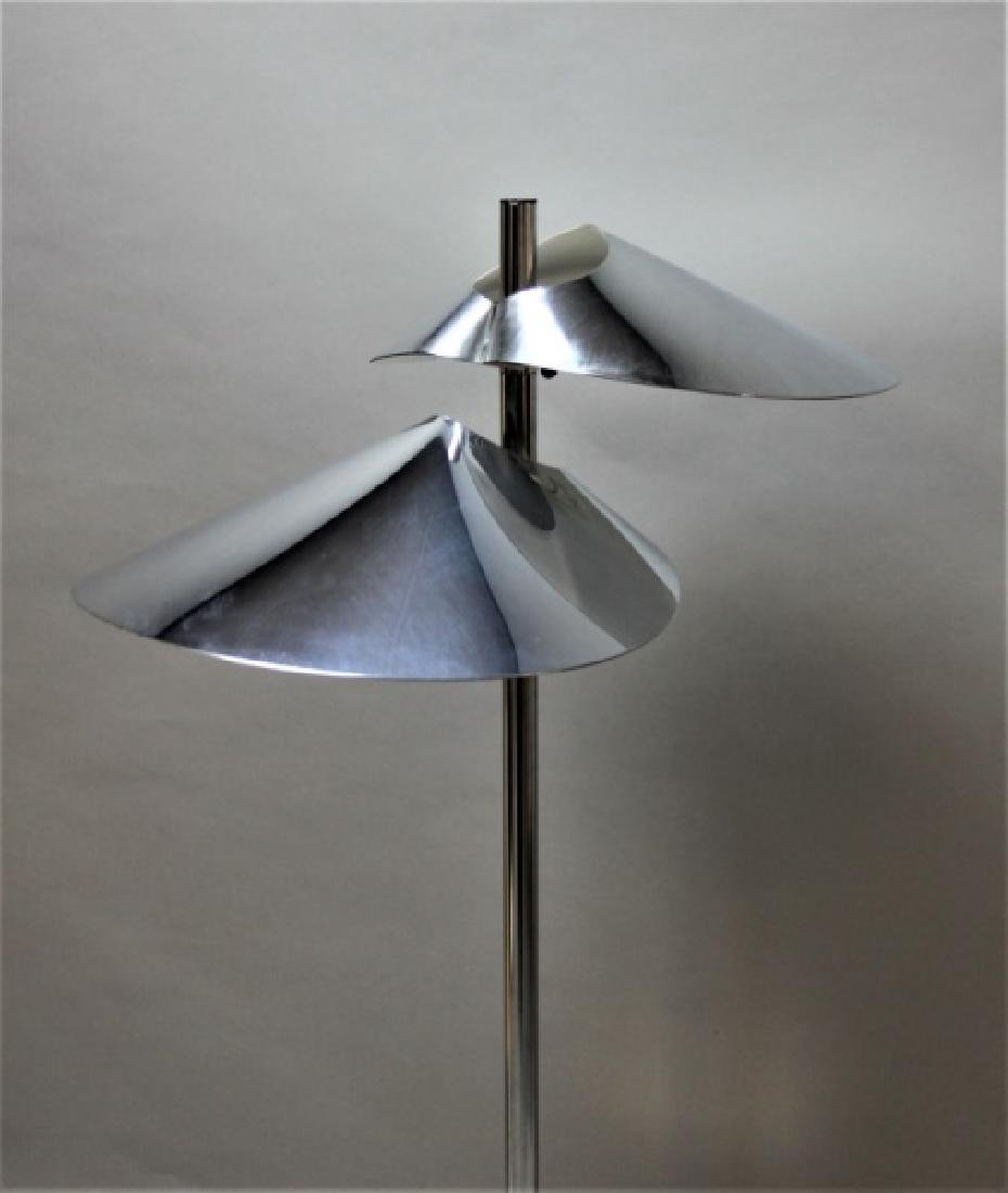 Curtis Jere Chrome Floor Lamp w 2 Hooded Lites - 5