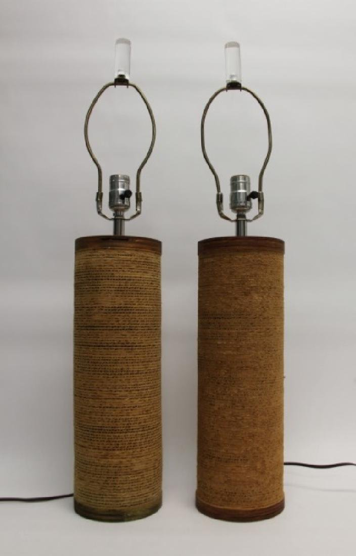 """Pair of Frank Gehry """"Easy Edges"""" Cardboard Lamps"""