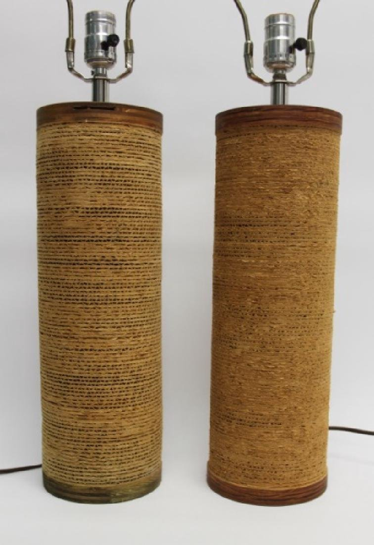 """Pair of Frank Gehry """"Easy Edges"""" Cardboard Lamps - 2"""