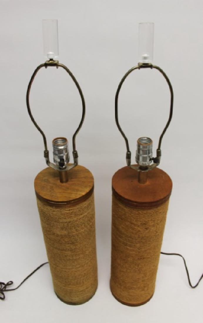 """Pair of Frank Gehry """"Easy Edges"""" Cardboard Lamps - 3"""