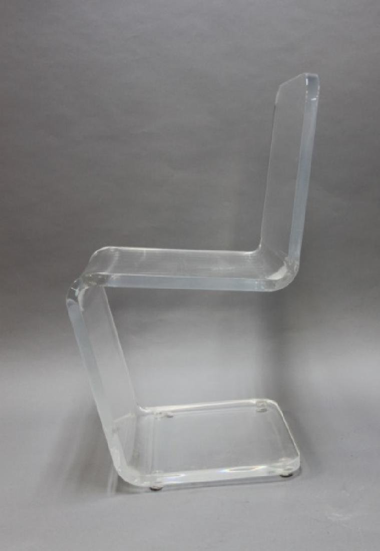 """Pair MCM Adrian Pearsall """"Z"""" Form Lucite Chairs - 4"""