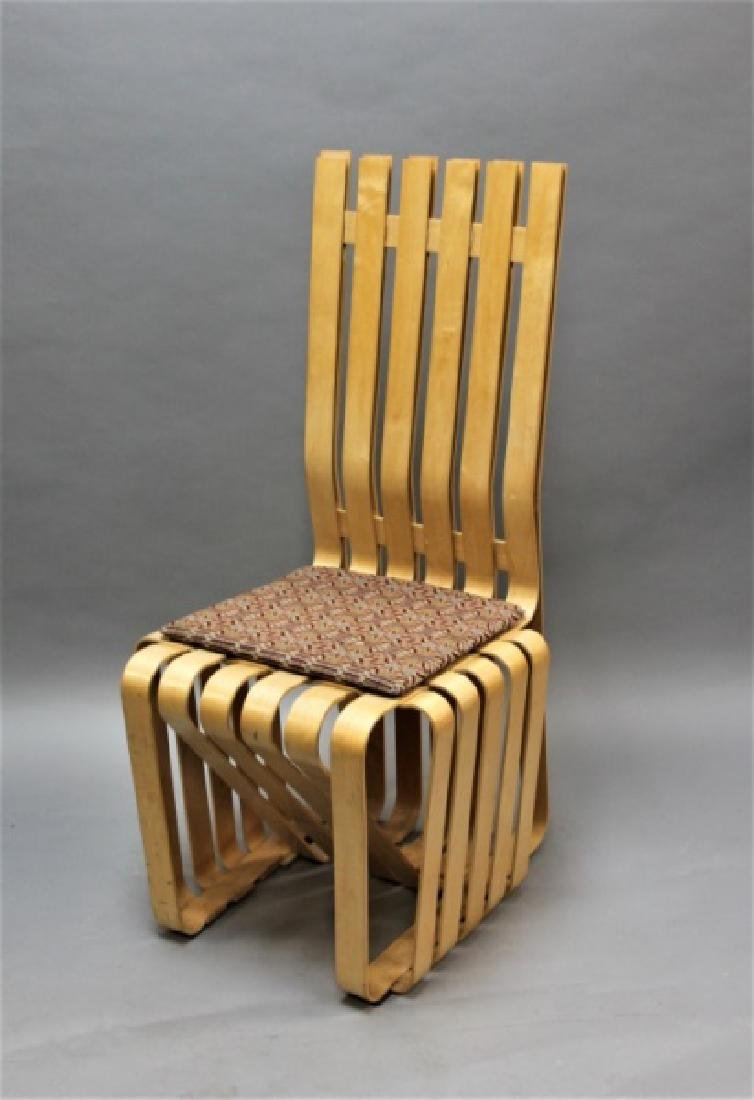 """MCM Frank Gehry Knoll Signed """"Highstick"""" Chair"""""""