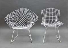 (2) Bertoia Knoll Chairs: Diamond Lounge & Chair