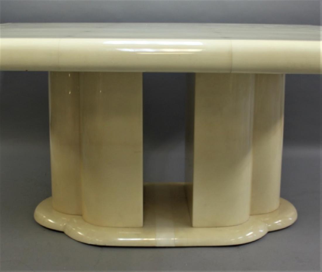 80's Karl Springer Goatskin Pedestal Dining Table - 2