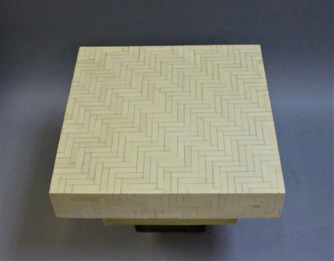 Pair Enrique Garcel Tessellated Bone End Tables - 5