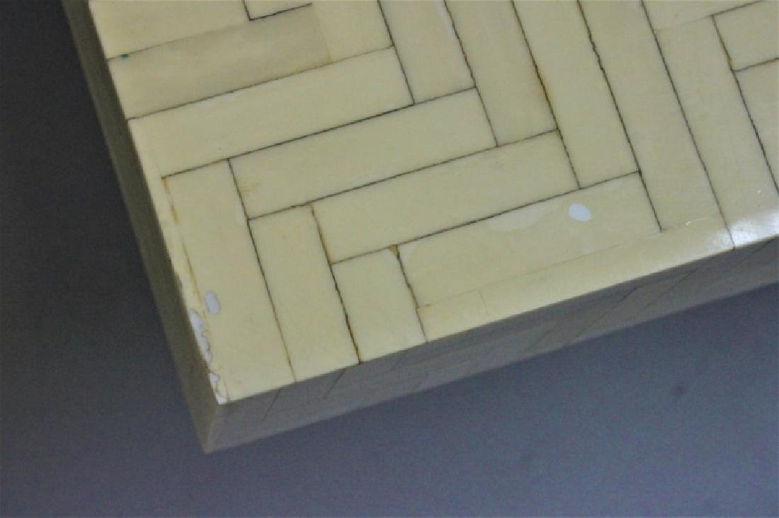 Pair Enrique Garcel Tessellated Bone End Tables - 6