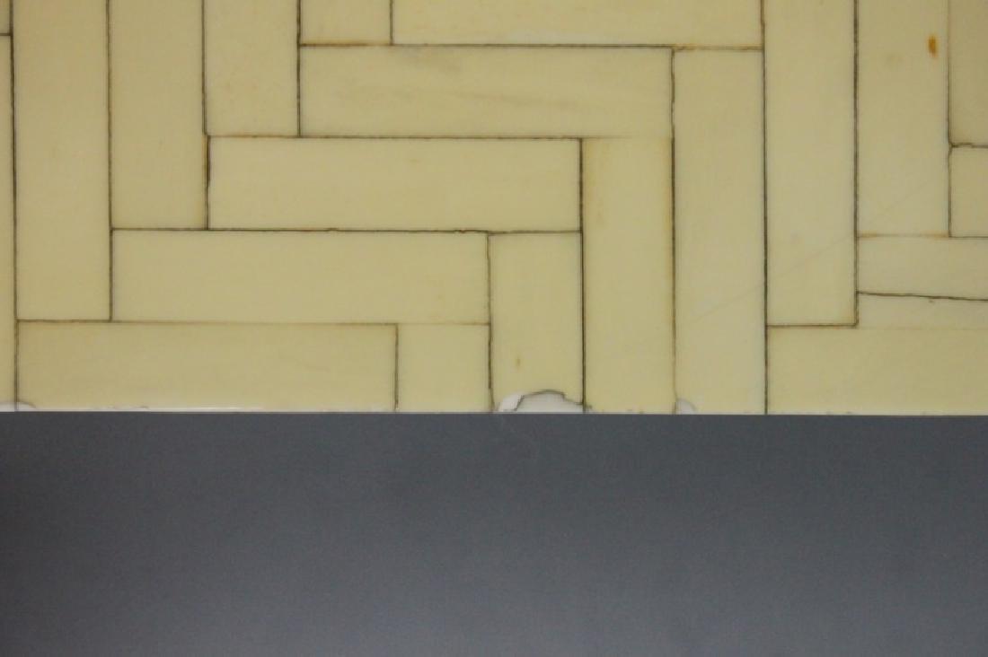Pair Enrique Garcel Tessellated Bone End Tables - 7
