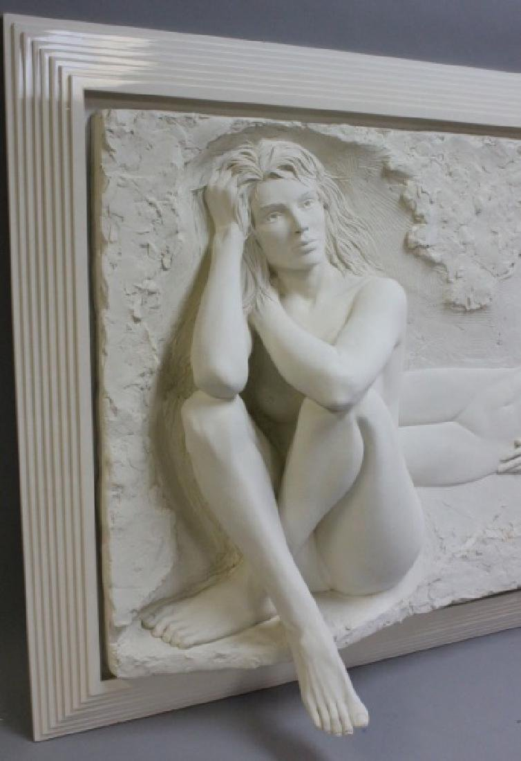 Bill Mack Bonded Sand Relief Wall Sculpture, Nudes - 3