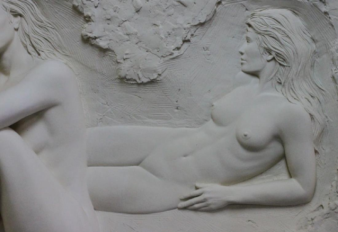 Bill Mack Bonded Sand Relief Wall Sculpture, Nudes - 6