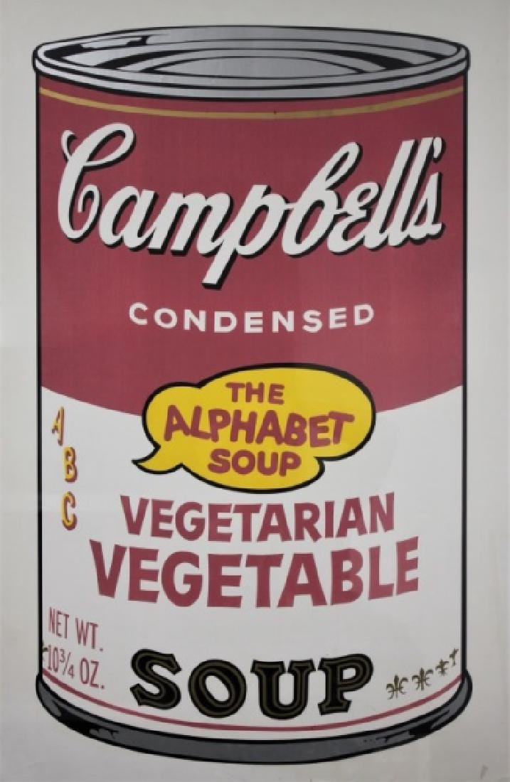 Andy Warhol Campbell's Vegetable Soup Poster 1969