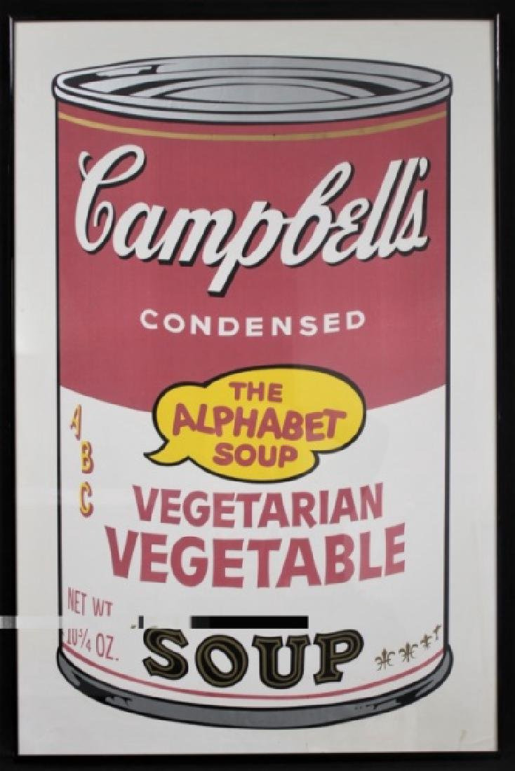 Andy Warhol Campbell's Vegetable Soup Poster 1969 - 2