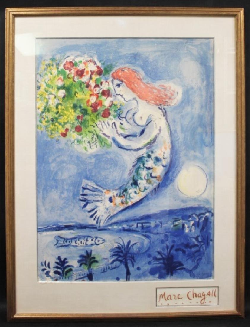 """Marc Chagall Mermaid Poster """"Bay of Angels"""" - 2"""