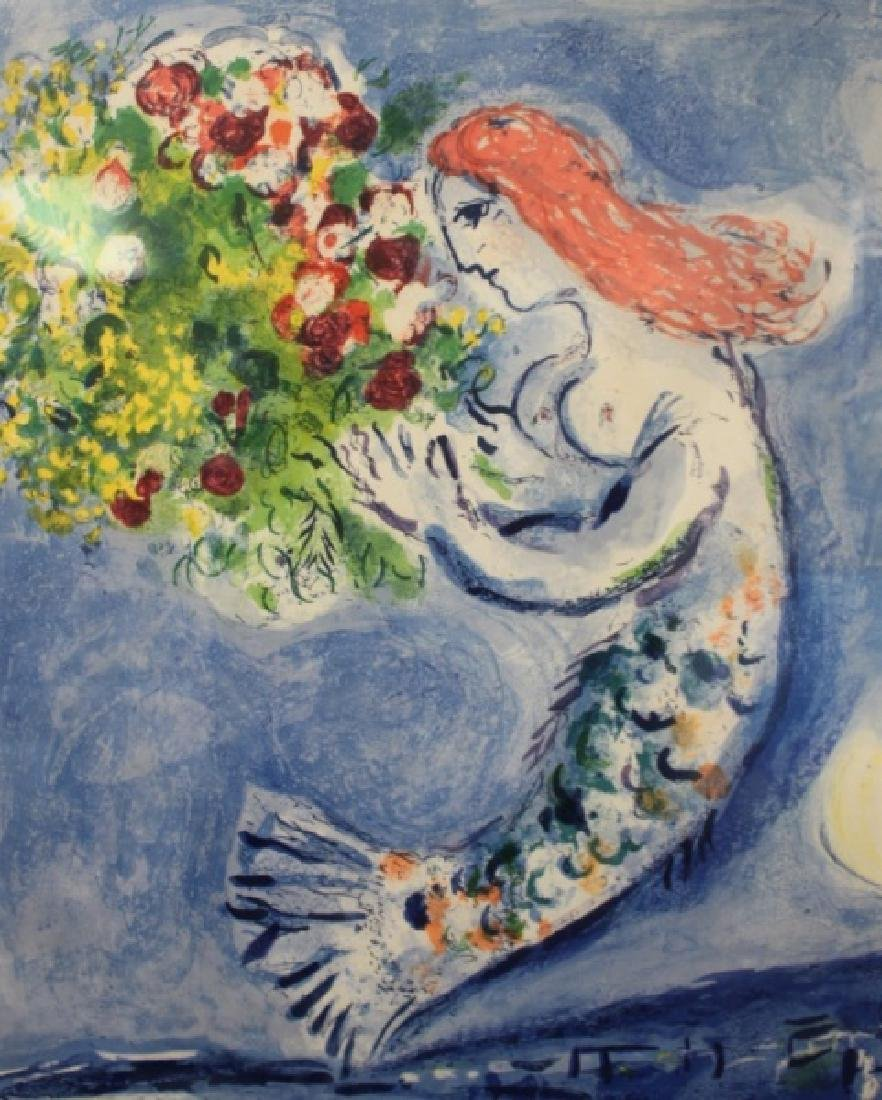 """Marc Chagall Mermaid Poster """"Bay of Angels"""" - 3"""