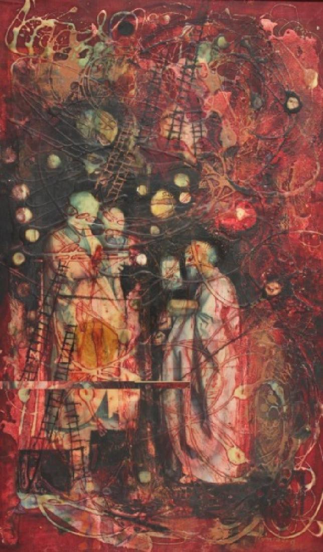Yankel Ginsburg Abstract Mixed Media on Canvas
