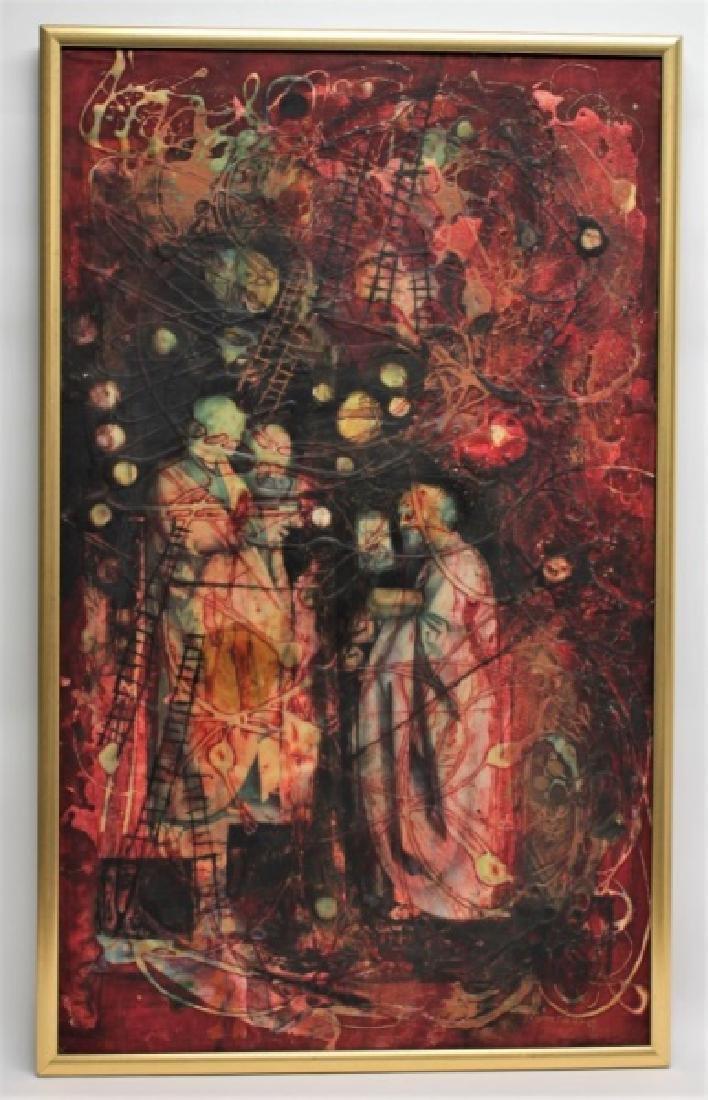 Yankel Ginsburg Abstract Mixed Media on Canvas - 2