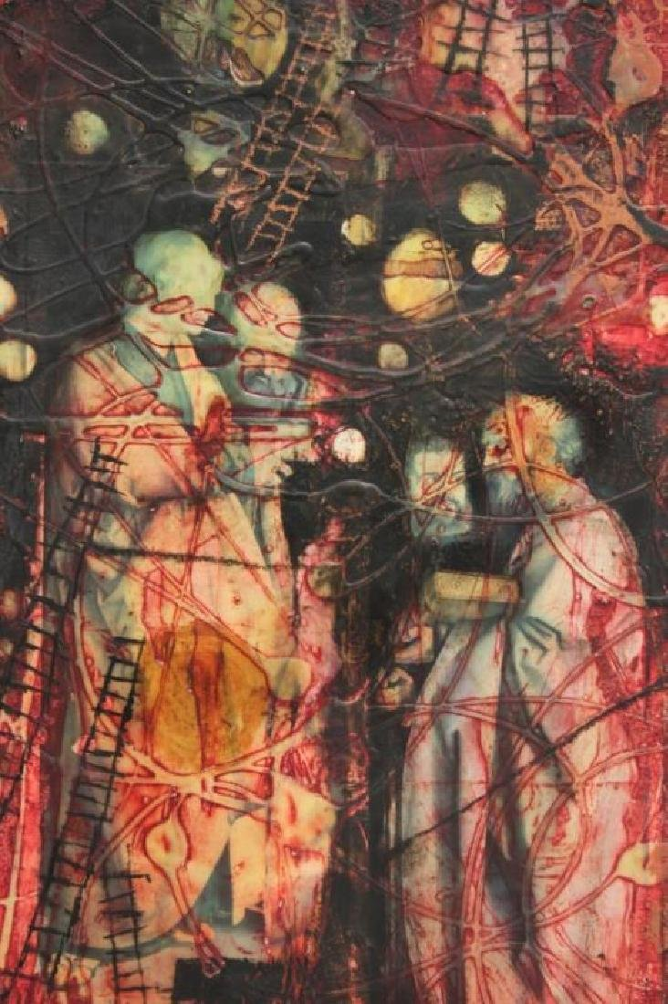 Yankel Ginsburg Abstract Mixed Media on Canvas - 3