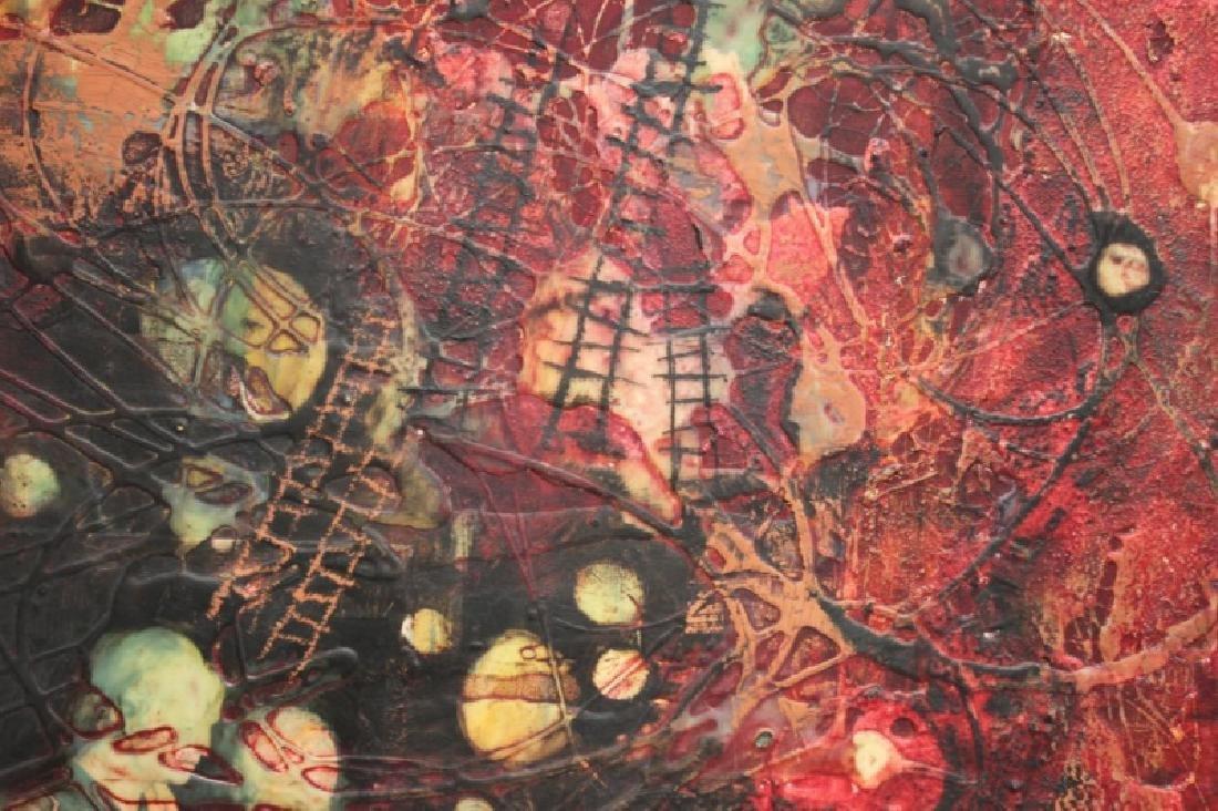 Yankel Ginsburg Abstract Mixed Media on Canvas - 4
