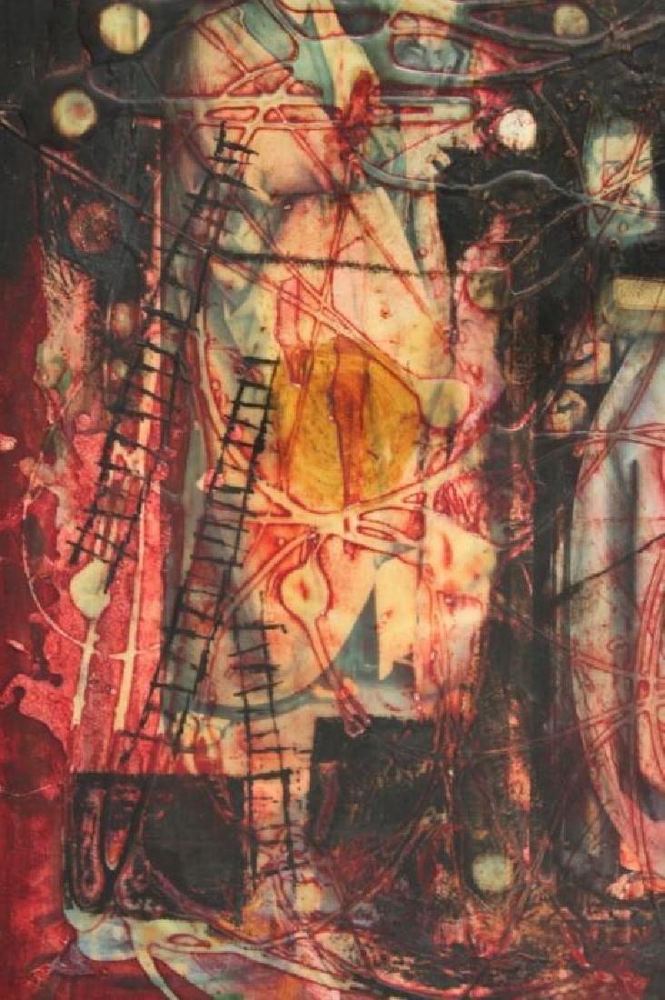 Yankel Ginsburg Abstract Mixed Media on Canvas - 5