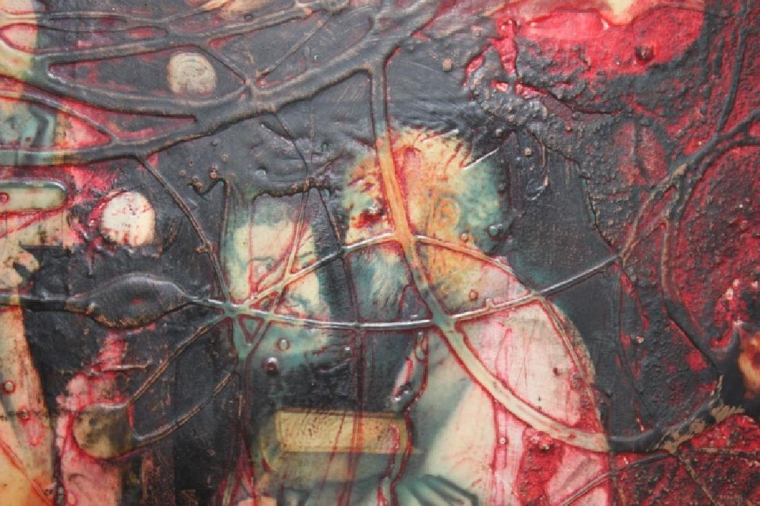 Yankel Ginsburg Abstract Mixed Media on Canvas - 6