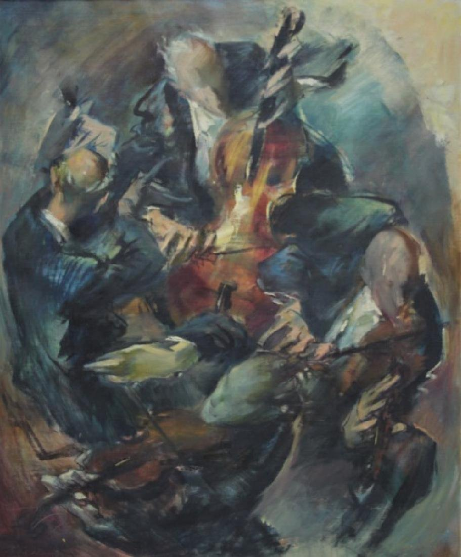 L. Di Valentin Oil Painting Musicians Quartet