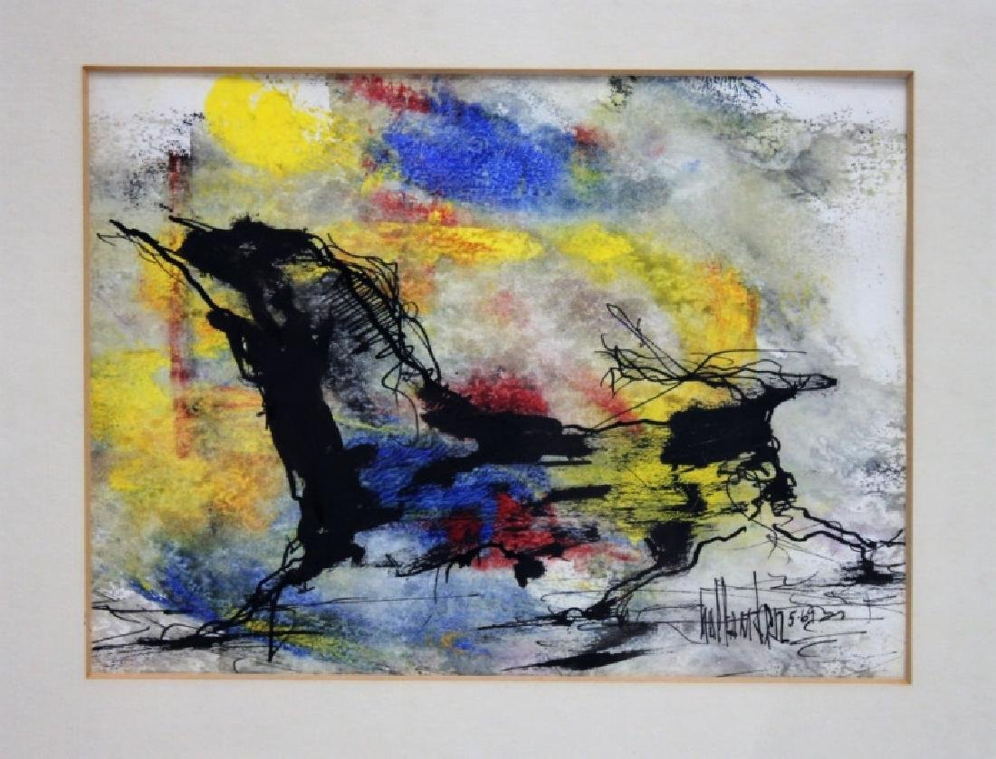 "Gino Hollander (1924-2015) MCM Abstract Oil ""Toro"""