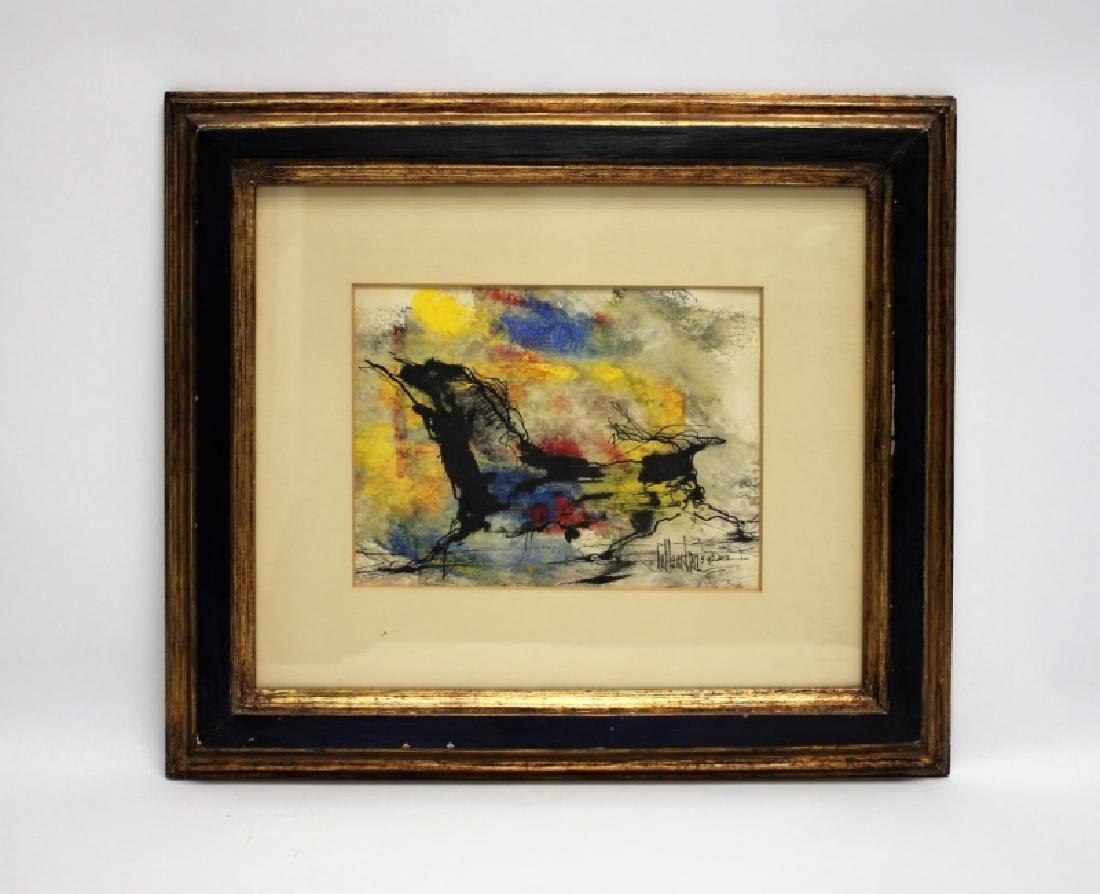 "Gino Hollander (1924-2015) MCM Abstract Oil ""Toro"" - 2"