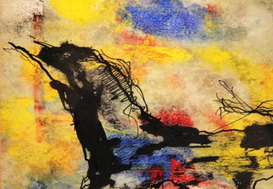"Gino Hollander (1924-2015) MCM Abstract Oil ""Toro"" - 6"