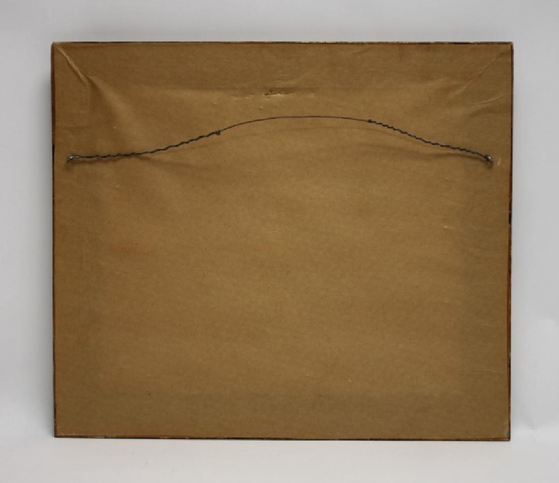 "Gino Hollander (1924-2015) MCM Abstract Oil ""Toro"" - 8"