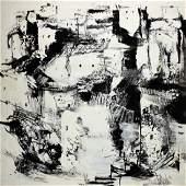 Gino Hollander (1924- 2015) MCM Abstract Oil City