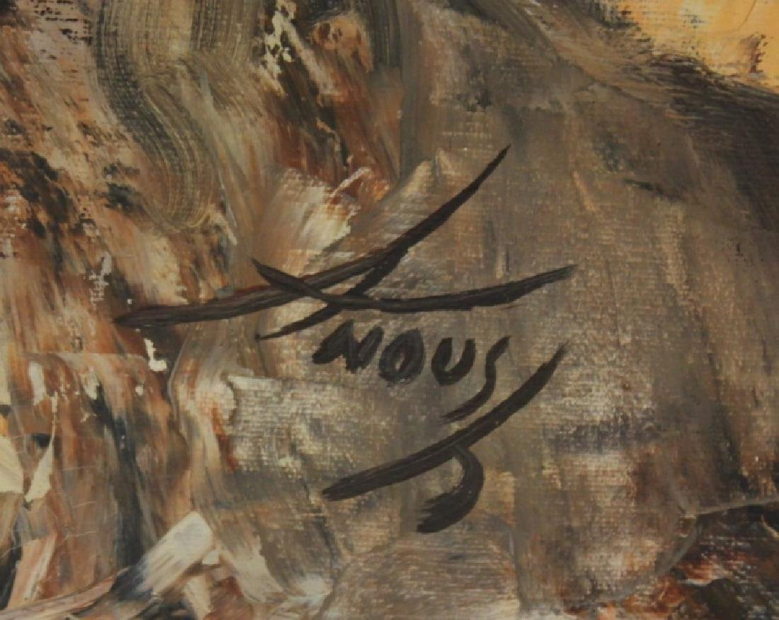 Anoush Oil Painting on Canvas, Man w/ Flute - 5