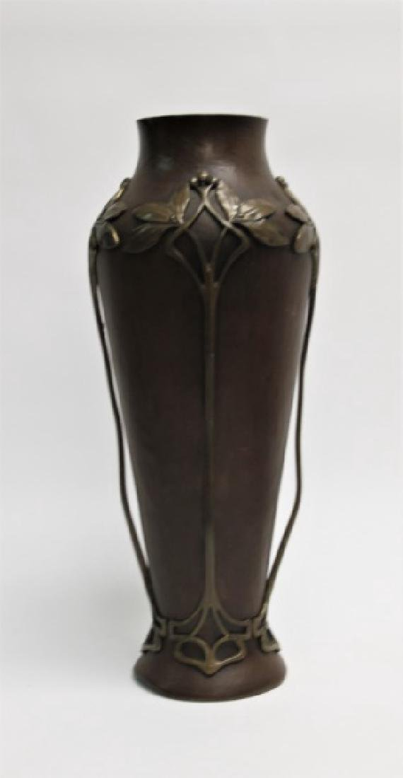 WMF Art Nouveau Hammered Copper & Bronze Vase - 2