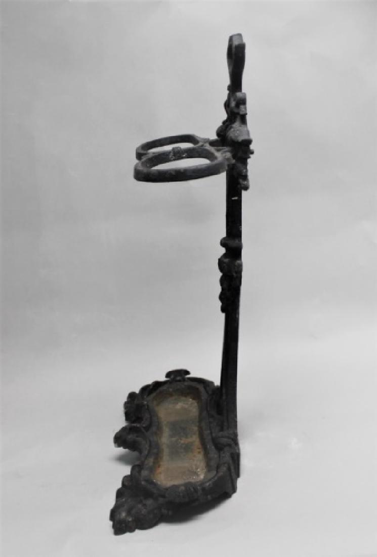 Antique 19th C Victorian Cast Iron Umbrella Stand - 3