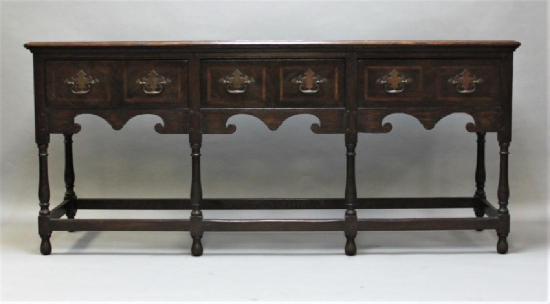 19C English Arts & Crafts Medieval Oak Server