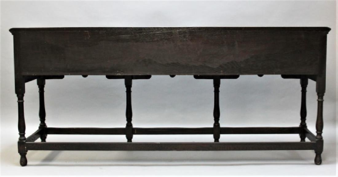19C English Arts & Crafts Medieval Oak Server - 3