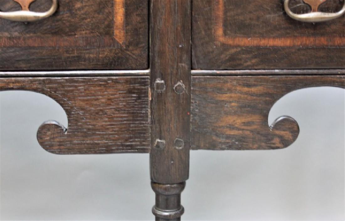19C English Arts & Crafts Medieval Oak Server - 5