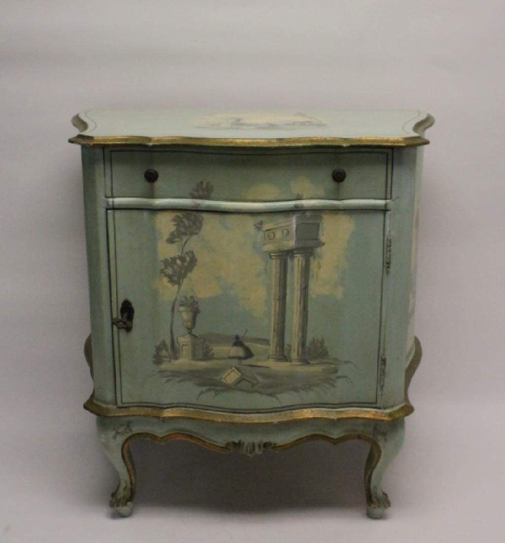 Hollywood Regency Venetian Painted Side Cabinet - 2