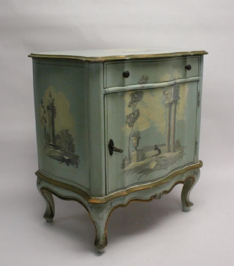 Hollywood Regency Venetian Painted Side Cabinet - 3