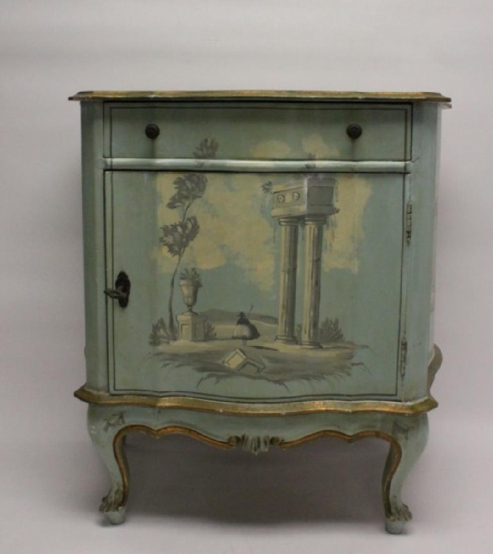 Hollywood Regency Venetian Painted Side Cabinet - 5