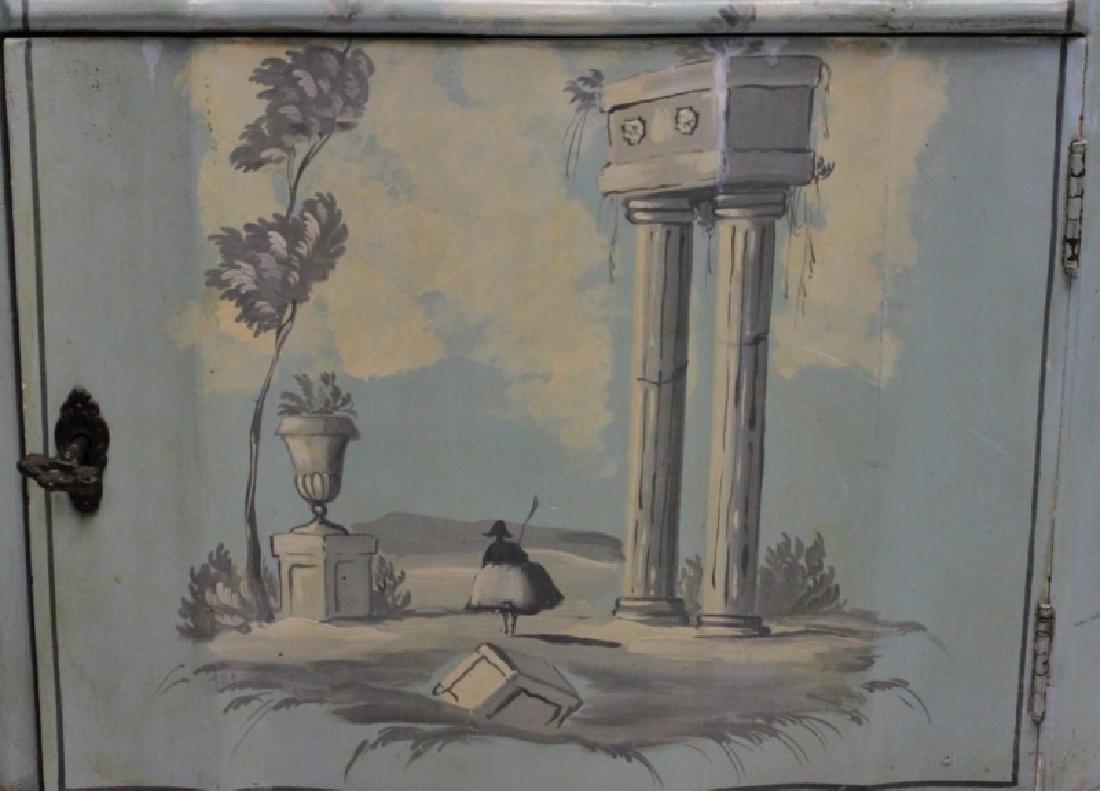 Hollywood Regency Venetian Painted Side Cabinet - 6