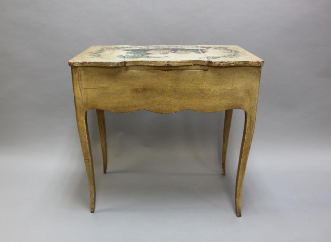 Louis XIV French Country Petit Hand Painted Vanity - 9