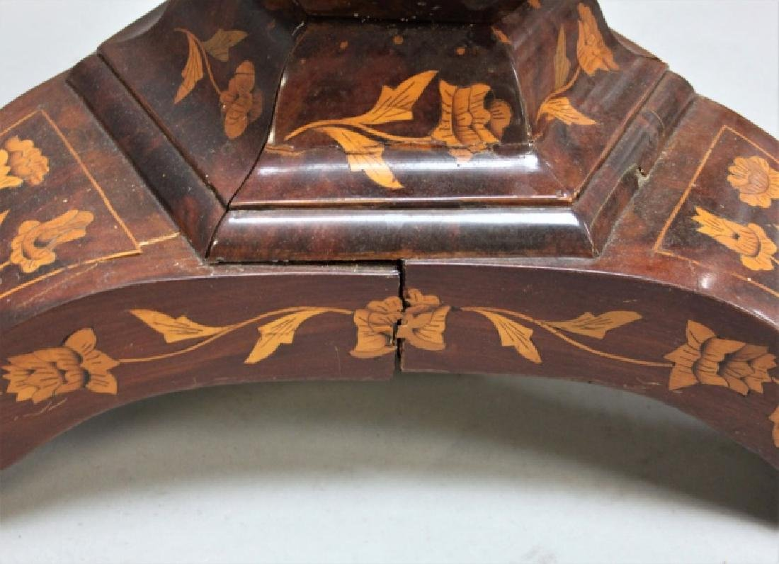 19C Dutch Marquetry Floral Inlaid Center Table - 6