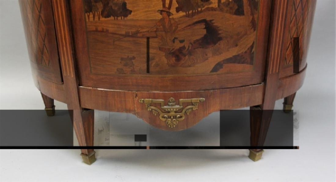 19th C Bedel & Cie French Demilune Commode - 4