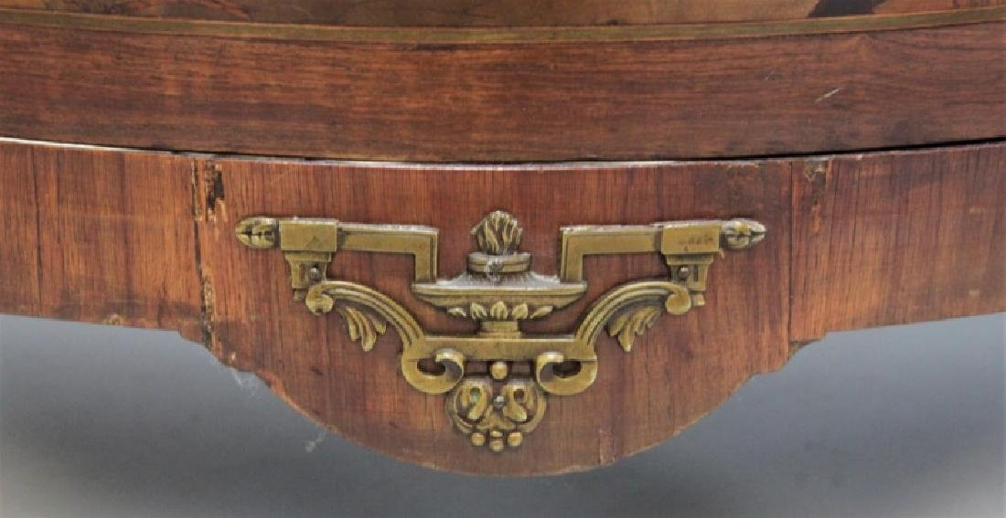 19th C Bedel & Cie French Demilune Commode - 6